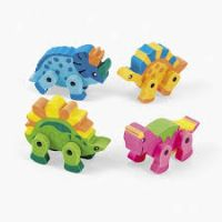 Dinosaur Rubbers - 3D with moveable legs